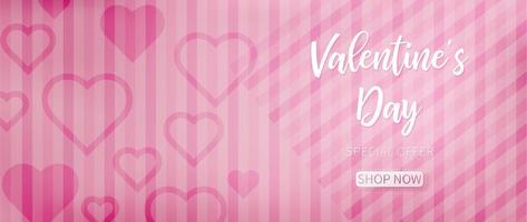 Pink valentine background with pink abstract pattern