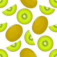 kiwi Seamless pattern and slices