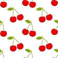 cherries Seamless pattern vector