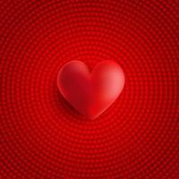 Aftelkalender voor Valentijnsdag achtergrond met 3d hart