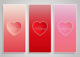 Decorative banner designs for Valentine's Day vector