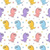 Seamless pattern cartoon dinosaur pattern  vector