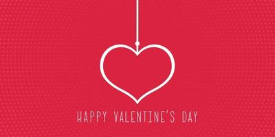 Minimalistic background for Valentine's Day vector