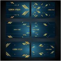 plantilla de tarjeta de visita de tecnología de lujo