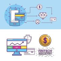 Conception de l'industrie Fintech