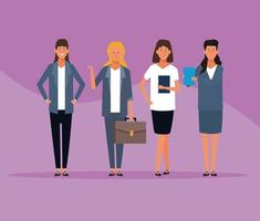 business women group vector