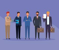 business men group vector