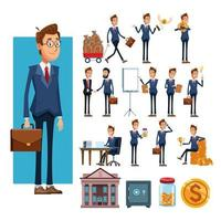 businessmen and business elements cartoons