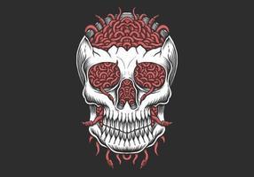 Skull head Worm illustration vector