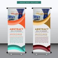vertical curved design banner template vector