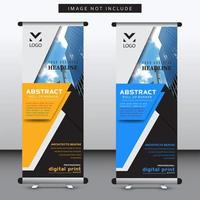 vertical layered geometric shape banner template vector