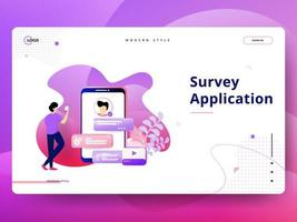 Landing Page Survey Application