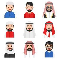 Set of Muslim men vector