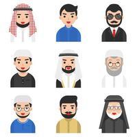 Conjunto de vectores de hombres musulmanes