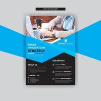 Blue Angled Design with Business Flyer Template Modern Design