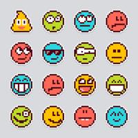 pegatinas de vector de emoji pixel
