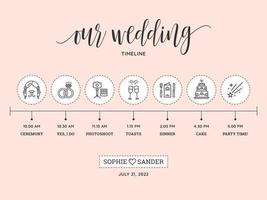 Wedding Timeline Vector Template