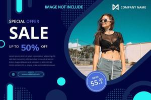 Sale promotion banner template