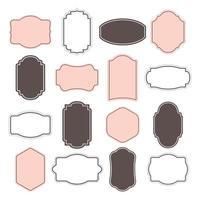 Conjunto de marco vintage y simple. vector