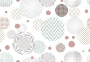 Seamless pattern of abstract circle shape elements on white background vector