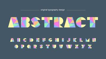 Colorful Low Poly Typography Design