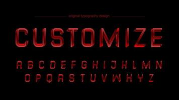 Abstract Chrome Red Artistic Font