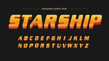 Carattere artistico futuristico sport arancione