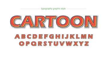 Comics Cartoon Orange Typography vector