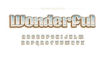 Colorful Vintage Gradient Artistic Font vector