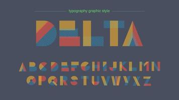 Abstract Shapes Colorful Typography vector
