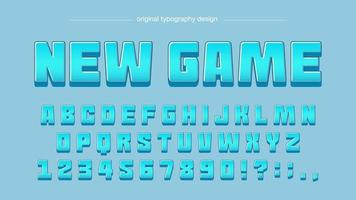 Blue Cartoon Comics Typography vector