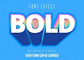 Strong bold colorful font effect vector