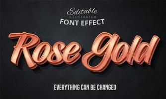 Rose gold text vector