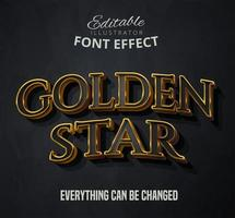 Golden star text