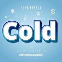 Cold blue white text vector