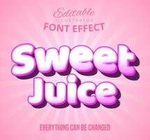 Sweet juice pink text