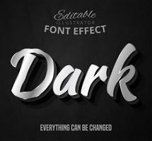 Texto prateado escuro