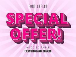 Modern bold pink font effect