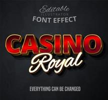 Casino royal text vector