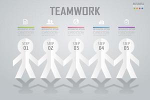 Infografica lavoro di squadra affari colorati