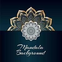 Luxury Golden and White Mandala Design with Copy Space vector