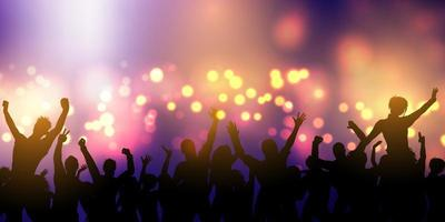 Party crowd banner design vector