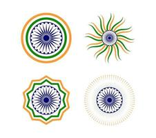 Happy Indian Republic day element set