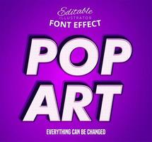 Efecto de fuente editable pop art vector