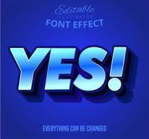 Yes text effect vector