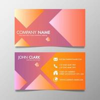 Creative Design Modern of Business Card Template Pink