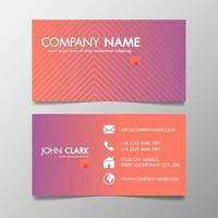 Creative Design Modern of Business Card Vector Template Pink