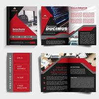Business brochure template with cover design