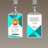 Plantilla de diseño de tarjeta de identificación moderna