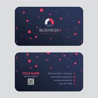 Dot Lines Business Card Design astratto